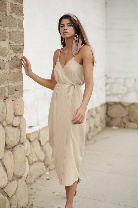 Ozma Palma Wrap Dress - Conch
