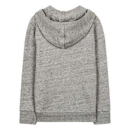 KIDS Finger In The Nose Hayden Zip Sweatshirt With Hood - Heather Grey