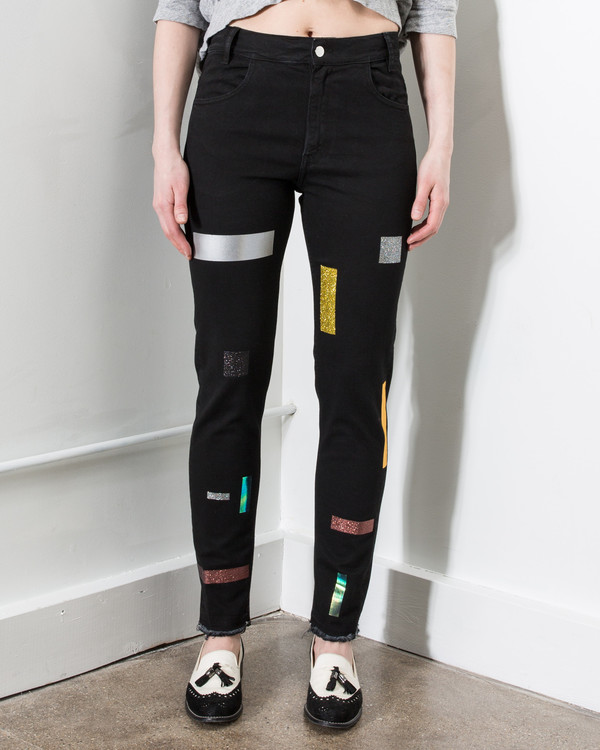 Aires Super-Tight Taped Jeans