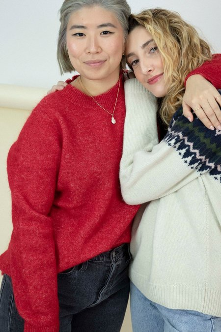 Just Female Chiba Sweater - Red
