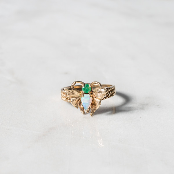 Rider For Life Butterfly Opal Ring