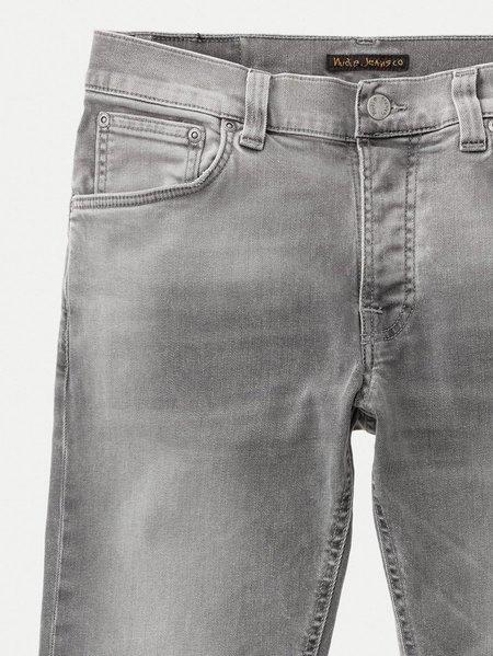 Nudie Jeans Grim Tim Denim - Light Grey Trashed