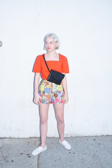 CAB Collection Shell Fanny Pack - Black Lizard Effect