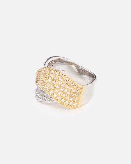 Love Adorned Vintage Pave Diamond Wave Ring