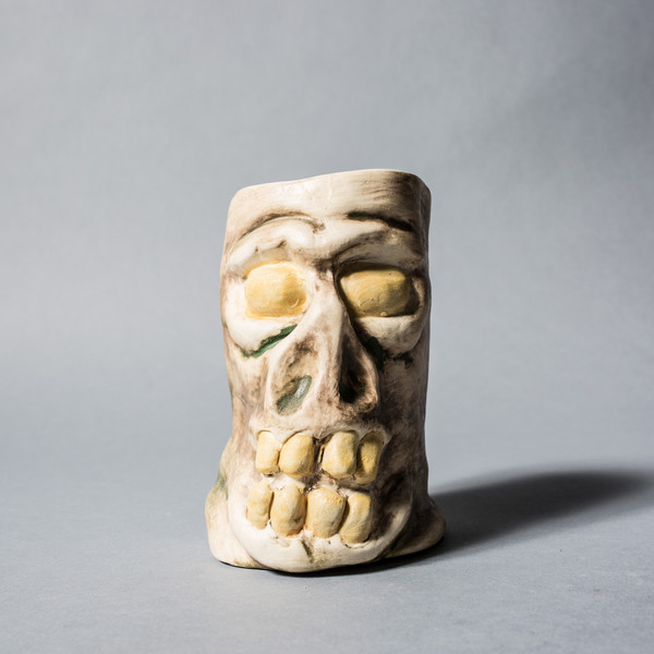 Marked Goods Tiki Skull Mug