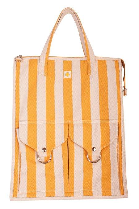 L.F.Markey STRIPED BEACH BAG - yellow