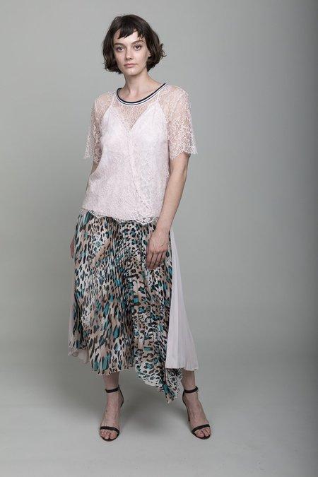 Loyd/Ford Pleated Skirt - Powder/Leopard