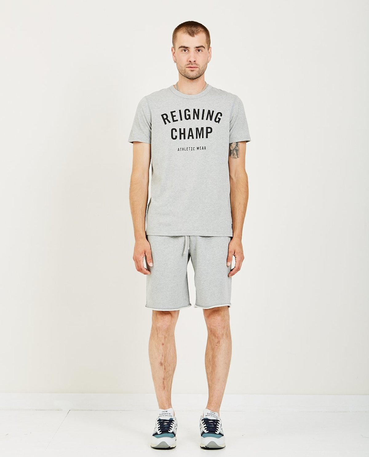 fine quality 100% high quality for whole family Reigning Champ RINGSPUN JERSEY GYM LOGO TEE