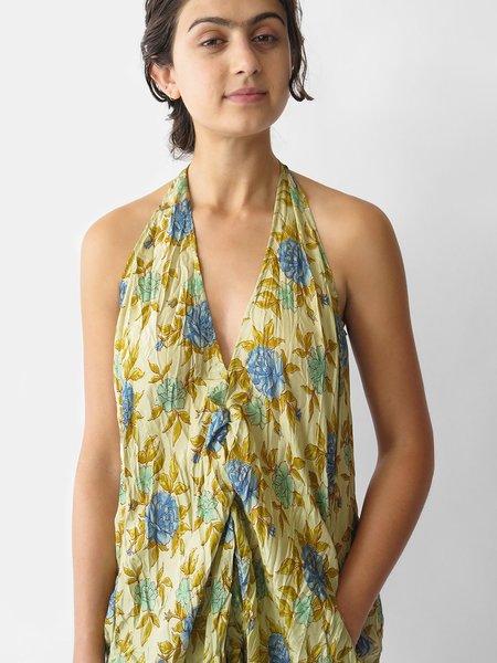 Hazel Brown Sleeveless Dress - All Floral