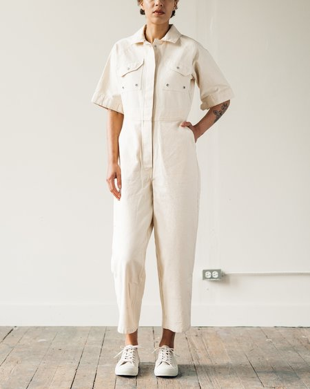 W'menswear Tropical Fieldwork Suit - Off-White