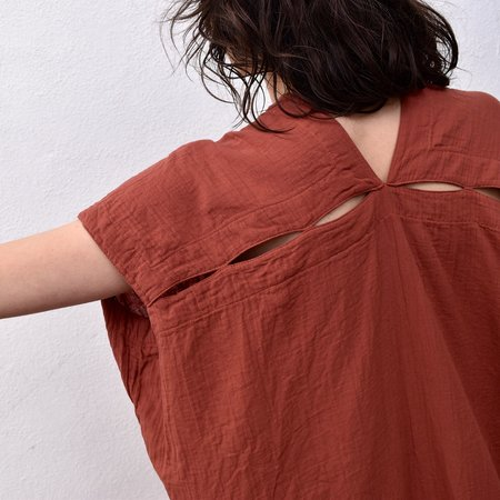 Atelier Delphine Crescent Dress - Brick