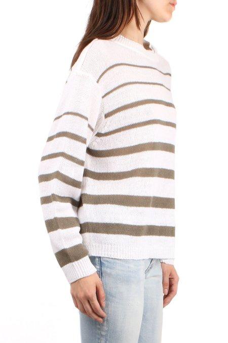 Brochu Walker Reed Pullover - Salt White Stripe