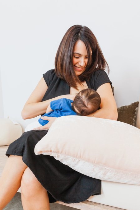 Miranda Bennett Before, During With: Silk Noil Everyday Nursing Dress - BLACK