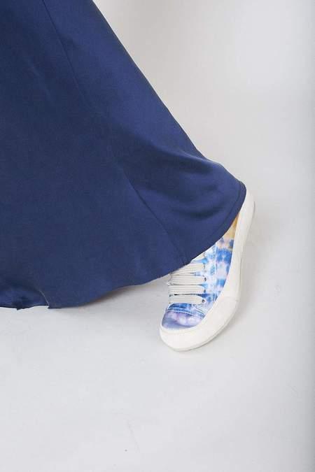 Pedro Garcia Sumi Tie Dye Parson Sneakers - Ocean Satin