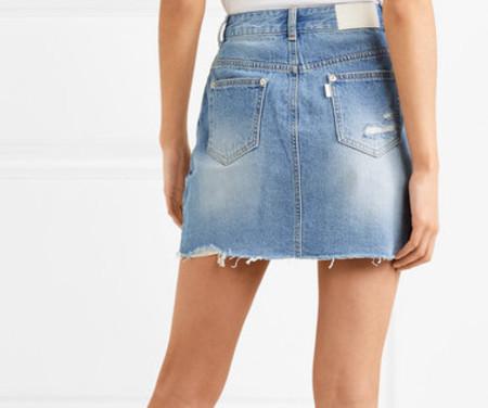 SJYP Distressed Denim Mini Skirt