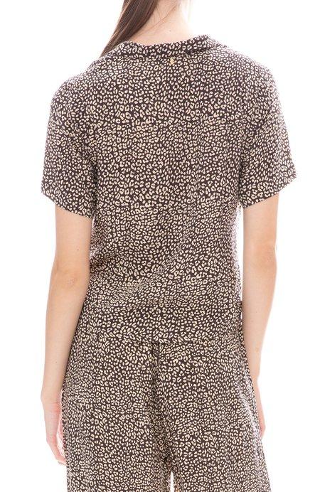 BEACHGOLD Tina Button Down Shirt - SLATE LEOPARD