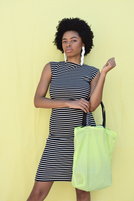 Study NY Twist Dress - Navy/White stripe