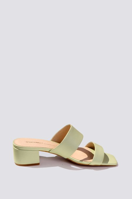 """""""INTENTIONALLY __________."""" Scamp Sandal - Mint"""
