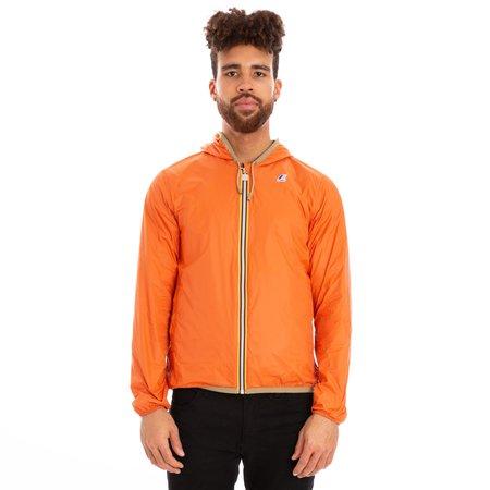 K-Way Jacques Reversible Plus Double Full Zip Jacket - Khaki/Orange