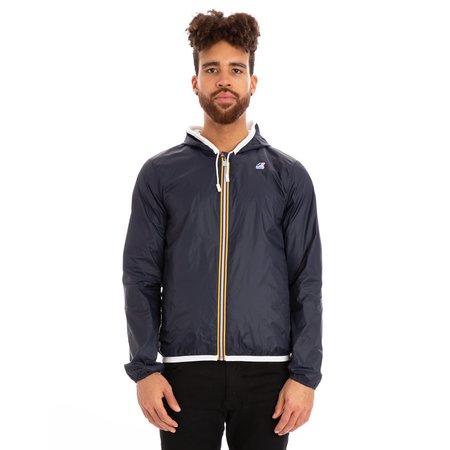 K-Way Jacques Reversible Plus Double Full Zip Jacket - White/Blue