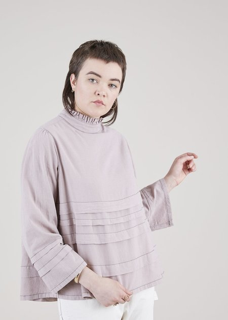 Hannes Roether Trulala Back-Tie Blouse - dusty rose
