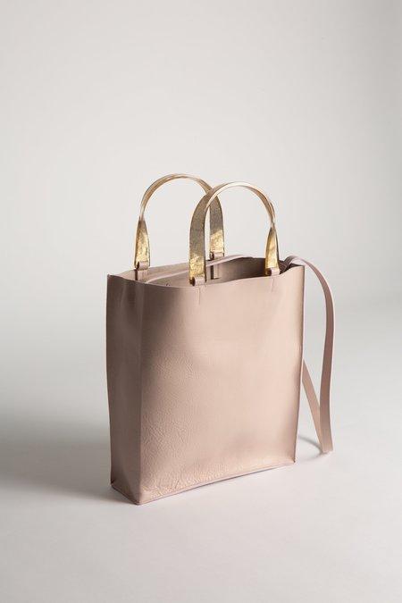 Arron Gold Handle Leather Bag - PINK