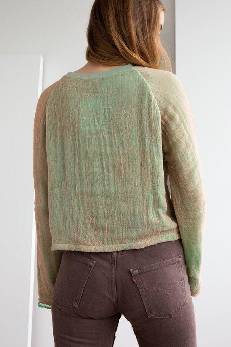 Halo Labels Gauze Sweatshirt - LIME