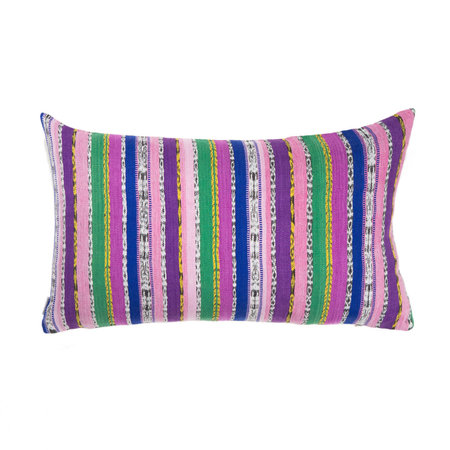 Archive New York Vintage Ikat Pillow - Purple/Green