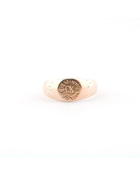 I Like It Here Club OK Signet Ring - Gold Plated