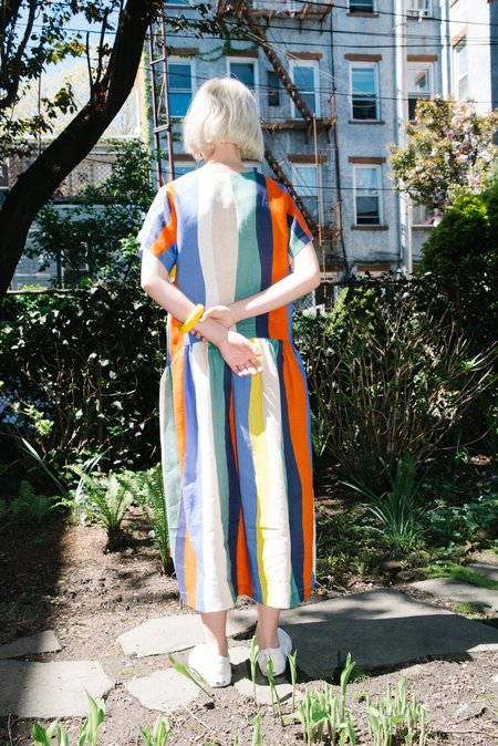 WHiT Catalina Dress - Rainbow Multi Stripe