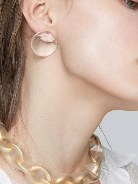 MONDAY EDITION Circle Glass Earrings