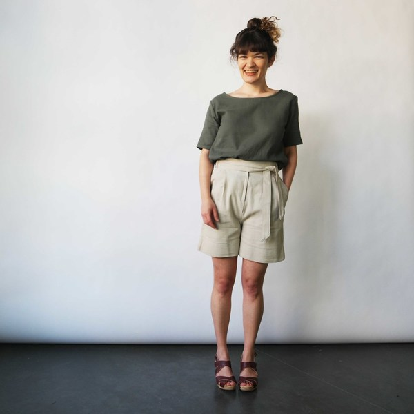 Curator Court Shorts in Tan