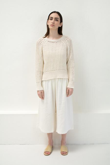 Micaela Greg Cream Chain Sweater