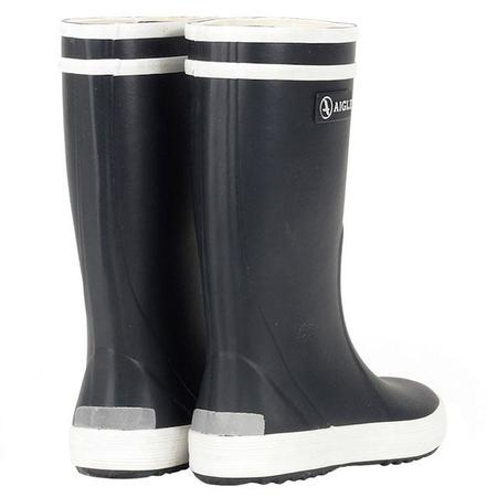 KIDS Aigle Lolly Pop Rubber Boots - Marine Blue/White