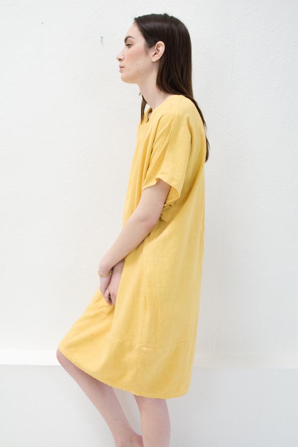 Yellow Keyhole Dress
