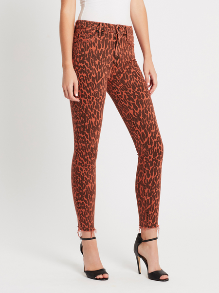 Mother Denim High Waisted Looker Ankle Fray Jean - Animal Attraction