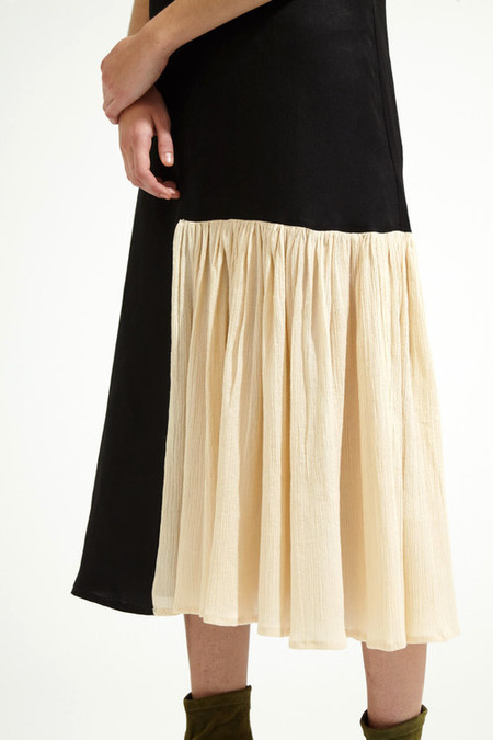 Correll Correll Flocco 19 Dress - BLACK/IVORY