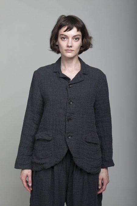 ICHI ANTIQUITES Linen Jacket - Charcoal