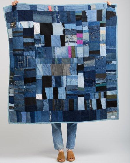 Silkdenim Recycled Denim Patchwork Throw Quilt