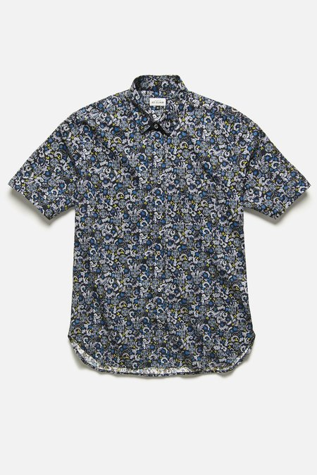 House of St. Clair CHICON SHIRT - BLACK FLORAL