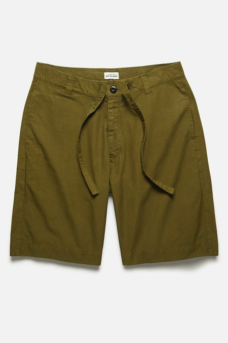 House of St. Clair DRAWSTRING SHORT - OLIVE TYPEWRITER