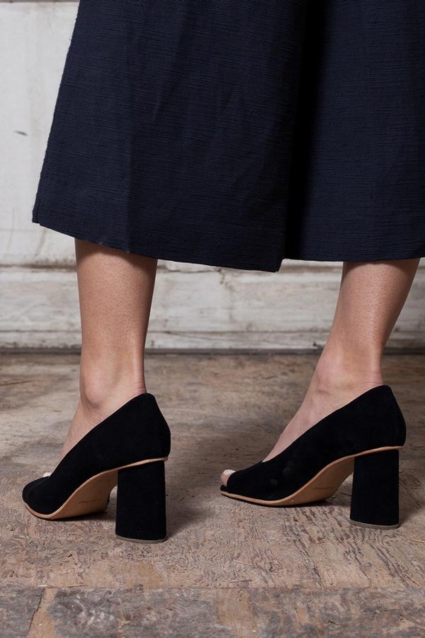 Apiece Apart Taiyana Wabi Wide Leg Trouser - navy