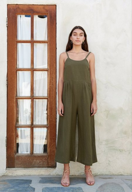First Rite Dip Jumpsuit - Olive
