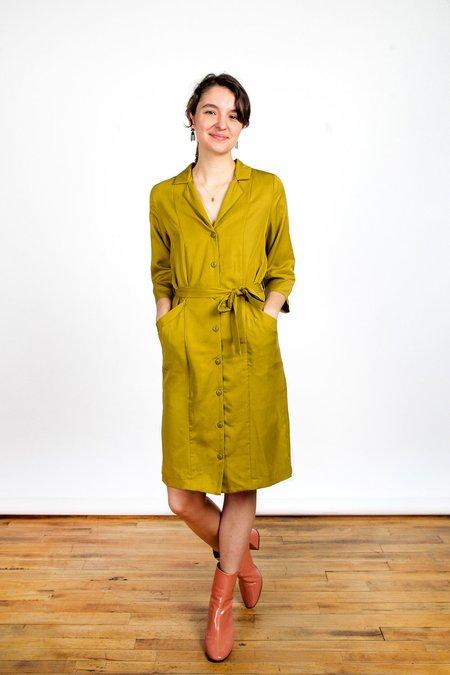 Eve Gravel Zenith Dress - Olive