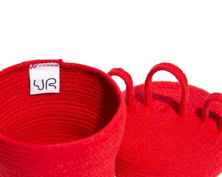 Ugly Rugly CRAZY HEAD BASKET - RED