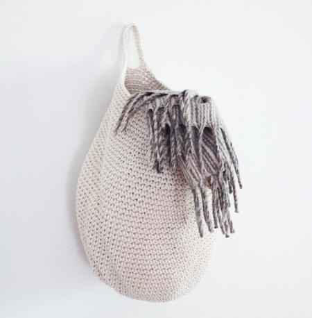 Murray & Finn Crocheted Basket - White