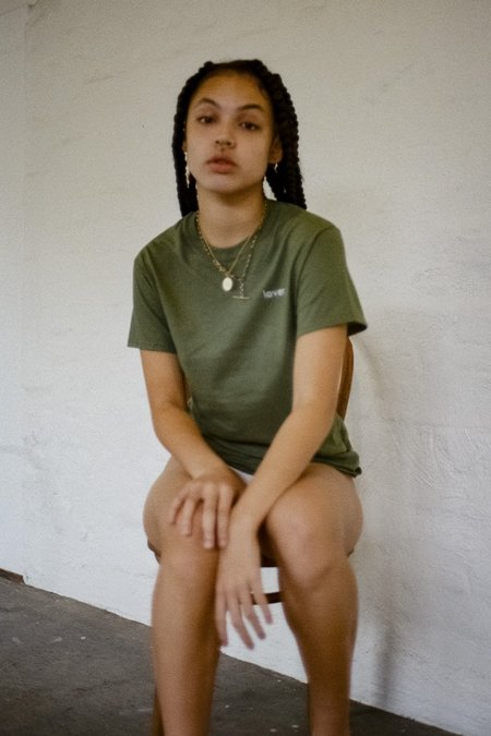 Double Trouble Gang Lover T-shirt - Khaki