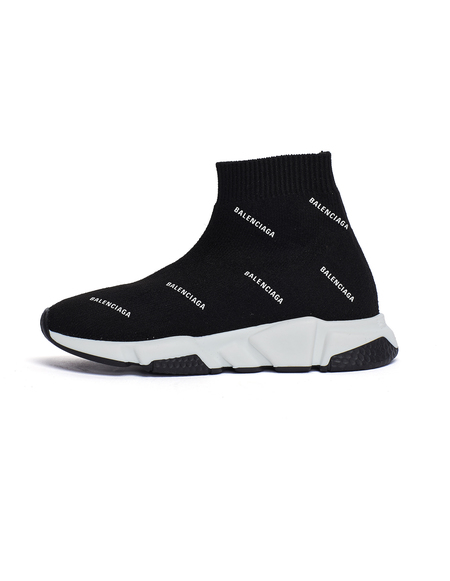 Kids Balenciaga Speed Trainer Sneakers - Black