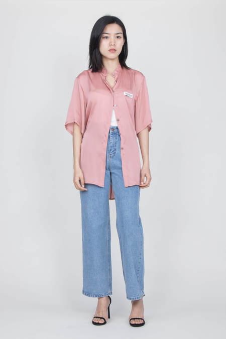 Kimhekim Label Short Sleeve Shirt - Pink