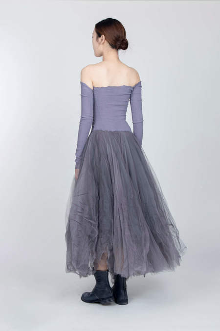 MARC LE BIHAN Danseuse Bustier Dress - Manche Grey